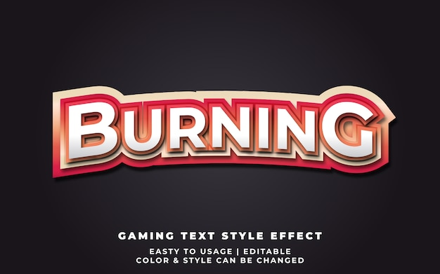 Burning text style effect for e-sport team identity