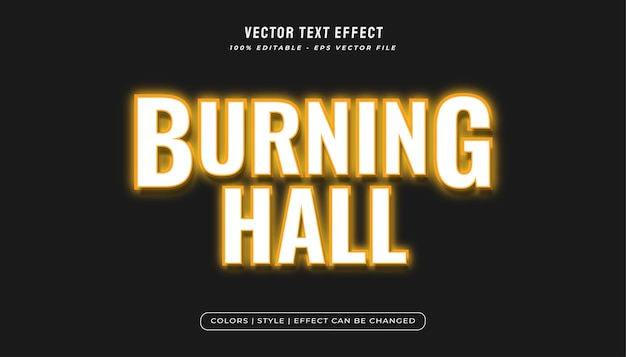Burning text style effect