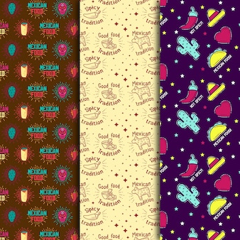 Burrito and cacti seamless pattern