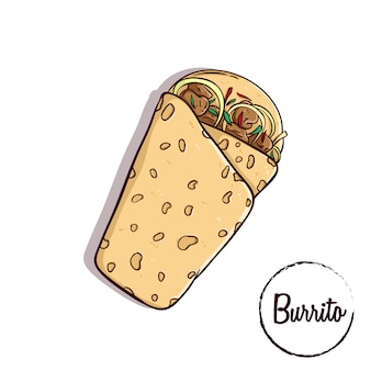 Burrito mexican traditional food
