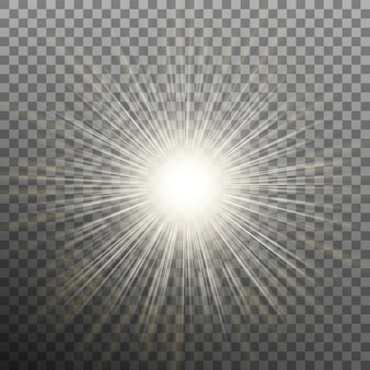 透明な背景のバースト効果。