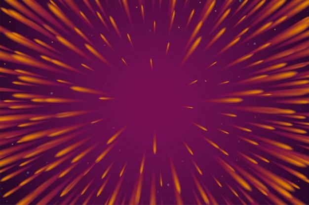 Bursting firework effect on purple background for design uses