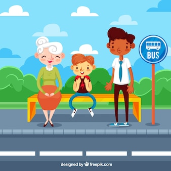 Bus concept in flat design