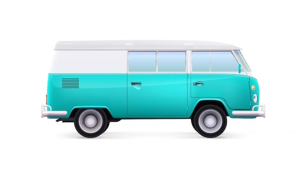 Автобус в старинном стиле. клипарт фургона.
