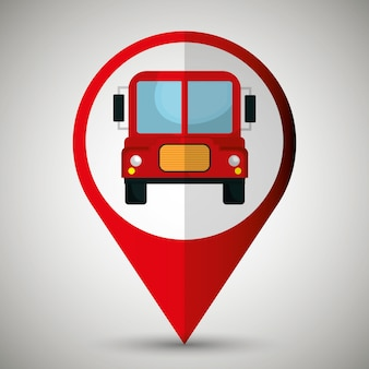 Bus location isolated icon design