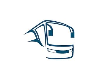 Bus logo abstract