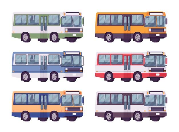 밝은 색상으로 설정된 버스