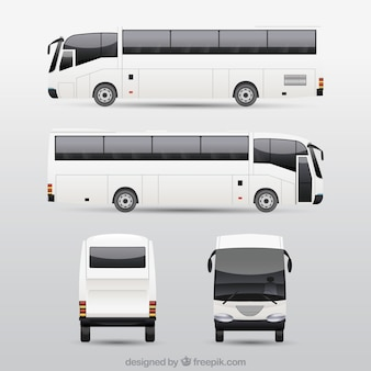 Bus set with different perspectives