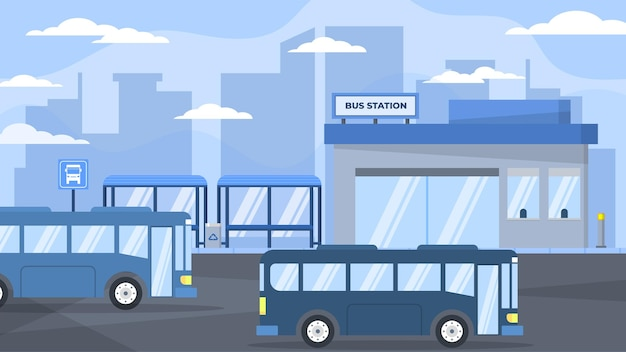 Bus station -  exterior scenes