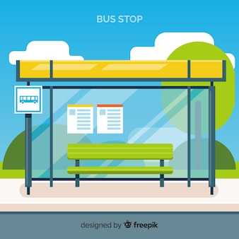 Bus stop background