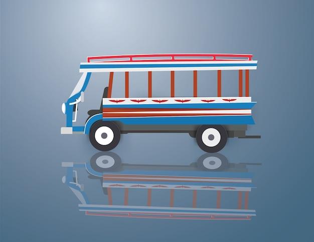 Bus in sukhothai thailand