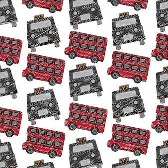 Автобусный транспорт и классическая модель такси в лондоне