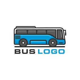 Автобус, векторный шаблон логотипа туристического автобуса