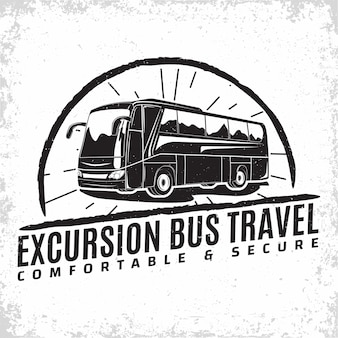 Bus travel company logo design