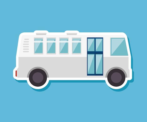 Bus travel service public vector illustration design