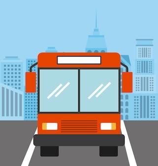Bus vehicle icon