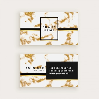Busienss card design in gold marble texture