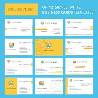 Загрузка документа шаблон карточки busienss. редактируемый креативный логотип и визитная карточка