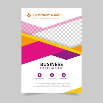 Busines brochure flyer design in a4 template
