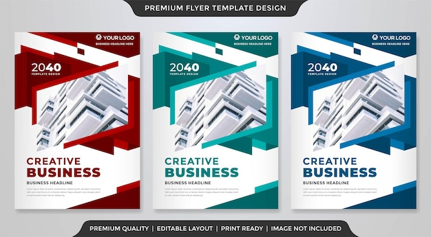 Business a4 flyer layout template premium vector