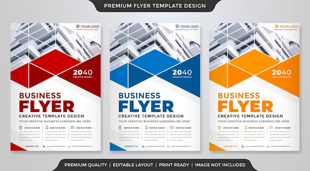 Business a4 flyer template premium style