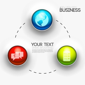 Бизнес абстрактный фон 3d цифровой инфографики концепции