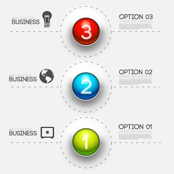 Business abstract 3d digital infographic background concept