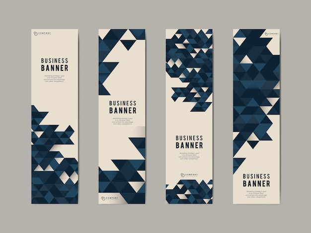 Business abstract banner set