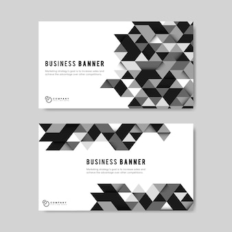 Business abstract banner template set