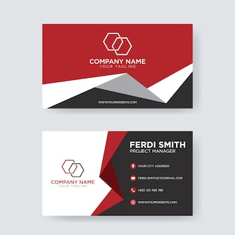 Business abstract business card