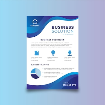 Business abstract flyer template
