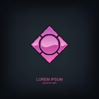 Business abstract  template  emblem logo, business technology universal idea