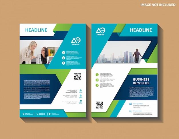 Бизнес абстрактный вектор шаблон брошюра дизайн обложки современный макет