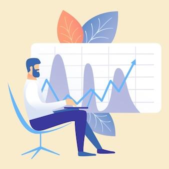 Business accounting, market analysis illustration