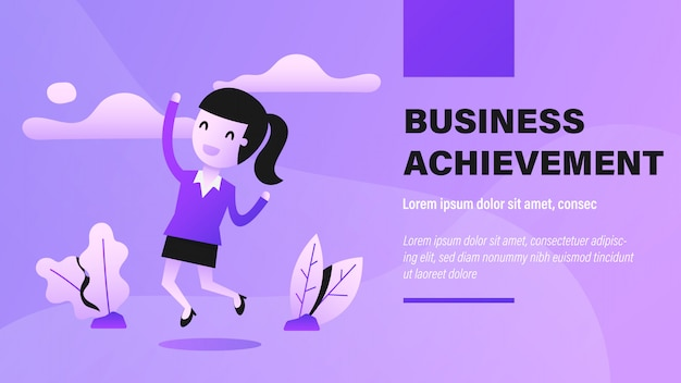 Business achievement banner