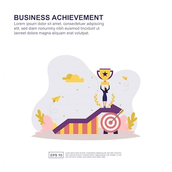 Business achievement concept
