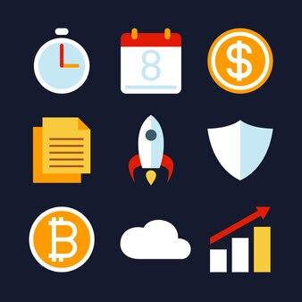 비즈니스 활동 및 전략 아이콘