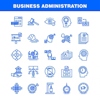 Business administration line icon