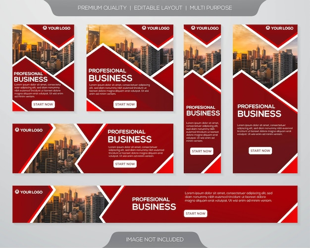 Business ads print template