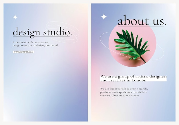 紫色のグラデーショングラフィックのビジネス広告編集可能なベクトルポスター