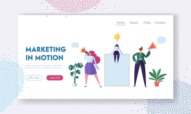 ビジネス広告コンセプトランディングページテンプレート