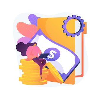 Business advisor. successful entrepreneur. business investment. accountant with laptop cartoon character. accounting, bookkeeping, savings account. vector isolated concept metaphor illustration