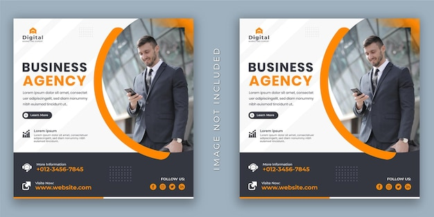 Business agency digital marketing and corporate flyer. social media instagram post or web banner template