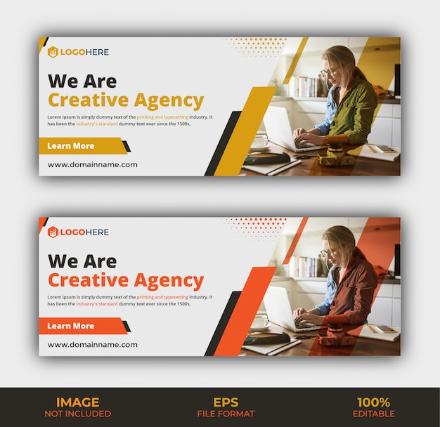 Business agency facebook cover template