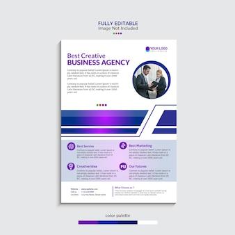 Флаер шаблон бизнес-агентства