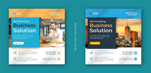 Business agency and modern creative web banner template