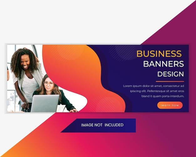 Business agency promotional social media design facebook cover, web banner template.