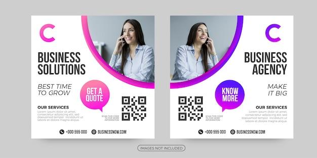 Business agency social media post templates