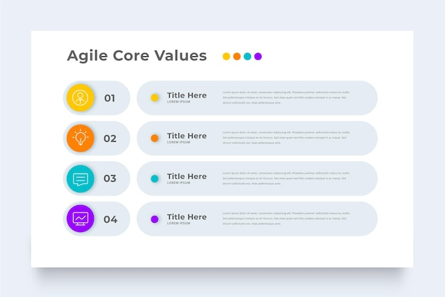 Business agile infographic template