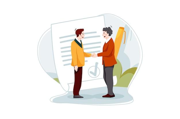 Концепция иллюстрации делового соглашения